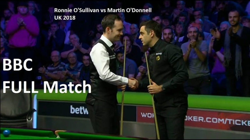 Ronnie O'Sullivan vs Martin O'Donnell full match UK Championship Snooker 7th December 2018 QF