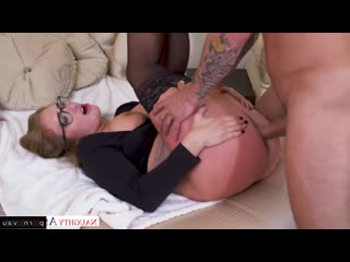 Skylar Snow & Mr. Pete [ In stockings,Чулки / Cum on face, Glasses, Finger, Anilingus, Sex in clothes, In clothes, In pant