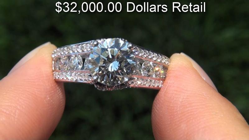 EGL CERTIFIED Untreated VVS2 2.72 Carat Diamond Engagement Ring Solid 14K