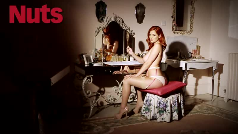 Lucy Collett Nuts June 2012 Part 2, big busty redhead red head sexy photosession boobs