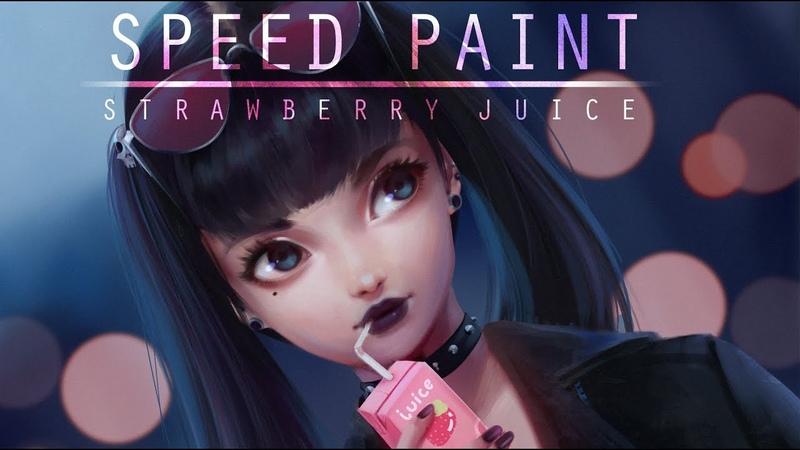 Speed Paint- Strawberry juice - Paint tool sai - Lulybot
