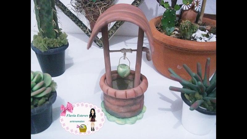 DIY-Como fazer mini poço para mini jardim