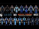 Mortal Kombat ALL SUBZERO MK Costume Skin PC Mod MK9 Komplete Edition MKKE HD