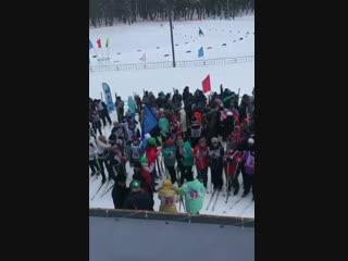 Сегодня в Зеленодольске  прошла республиканская массовая лыжная гонка Лыжня Татарстана-2019Видео: Управление по Делам Молод
