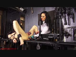 Machine fucking and milking mistress ezada ruining the orgasms of her slave twic