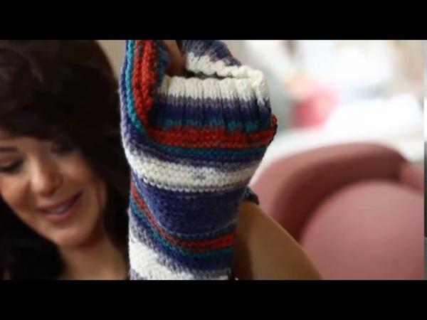 Alize Burcum Bebe Batik ile Atkı-Bere-Eldiven Tasarımı-Making Scarf-Beret-Gloves All in One Design