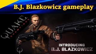 B.J. Blazkowicz gameplay. БОГ ГВОЗДОМЕТА. Quake Champions командные бои 4 на 4.