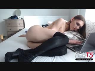 Красавица транс sexy stockings tranny sasha anal play webcam solo (shemale, tgirl, tranny, sissy)