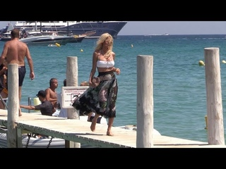 EXCLUSIVE - Victoria Silvstedt at Club 55 in Saint Tropez