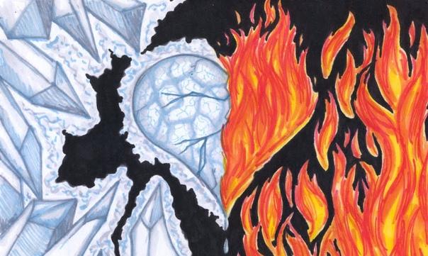 Картинки огонь и вода срисовки