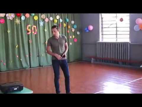 Андин Сергей - выступление на школьном юбилее