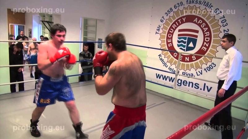 Eriks Kalašnikovs – 89.0 kg. VS Jevgenijs Andrejevs – 83,4 kg.10.01.2015 proboxing.eu