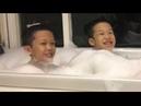 An brothers Trải nghiệm bồn tắm siêu tạo bọt trên tàu 5 sao Ngủ đêm trên Vịnh Hạ Long