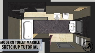 Tutorial sketchup for beginners how to build luxury restroom