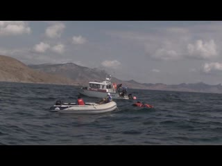 Завершение поисковой операции МЧС Крыма в районе мыса Меганом