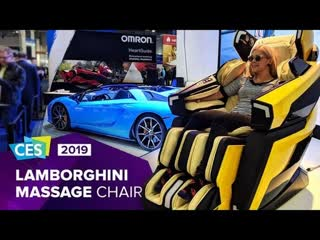 Take it easy at ces 2019 in lamborghini's luxury massage chair take it easy at ces 2019 in lamborghini's luxury massage chair