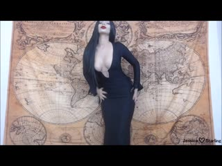 MаnуVids Jеssiса Stаrling - Morticia Fingers And Fucks To Poe (1080p) Amateur, Brunette, HD, Russain, 2018