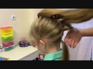 Шикарная коса для девочки, просто супер!