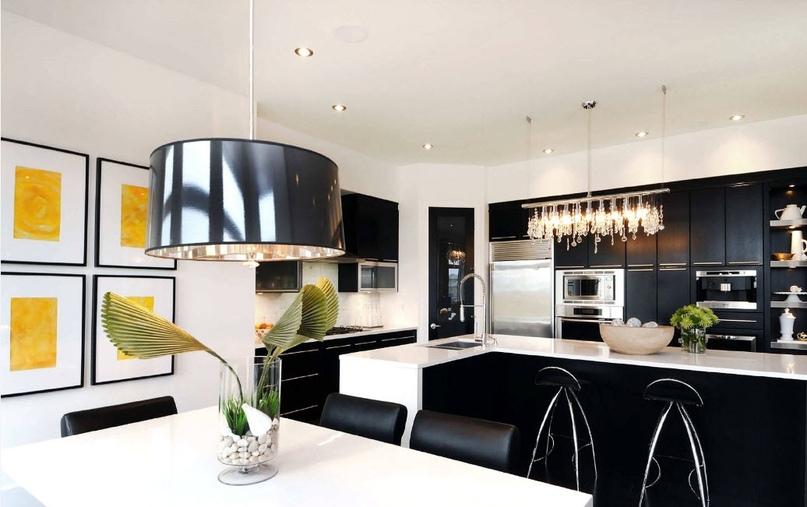 Черно-белая кухня – особенности контрастного дизайна., изображение №17