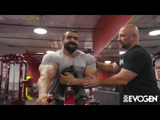 Hadi choopan trains back & biceps - one week out from mr. olympia 2019