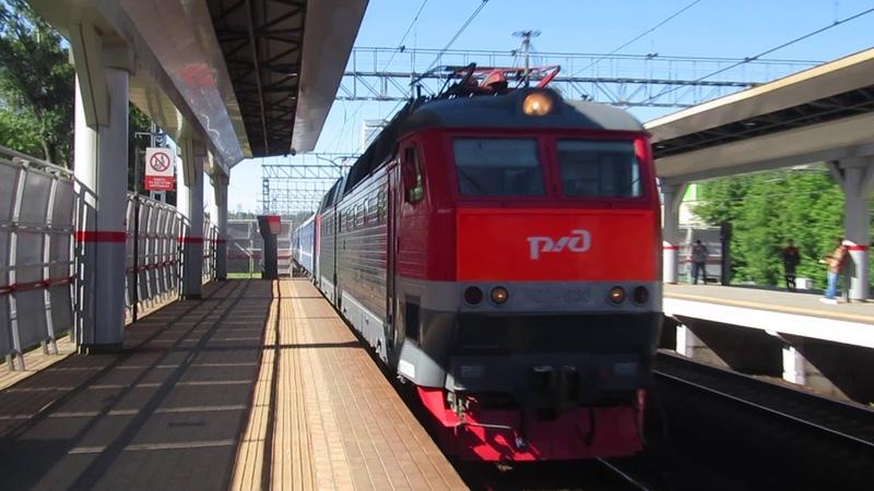 Электровоз ЧС7-030 с поездом№028Б Брест-Москва станция Фили 4.06.2019