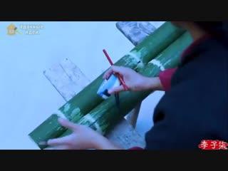 Девушка делает мебель из бамбука своими руками вот это молодец
