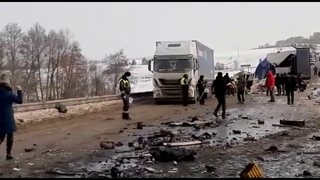 20210122 - Жесткое ДТП у Николаевки на трассе М-5
