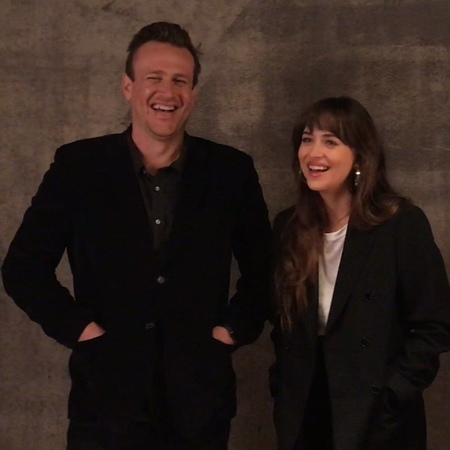 """L.A. Times Entertainment on Instagram: """"Giggles with TheFriend stars JasonSegel and DakotaJohnson. ❤️ The film has its world premiere tonight at..."""