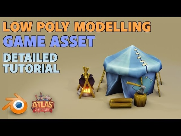Make a Low Poly Tent | Blender 2.8 | Detailed Tutorial | Mobile game assets
