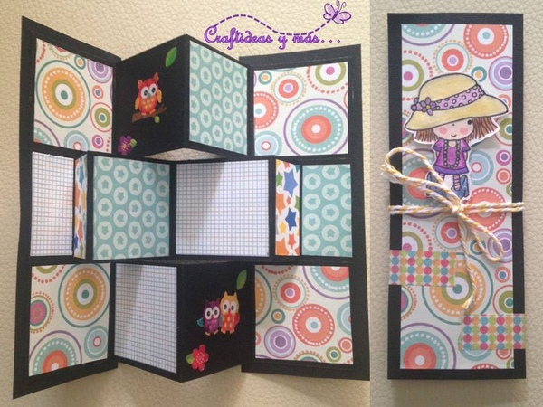 DIY Tarjeta pop up pequeña card making tarjeta plegable
