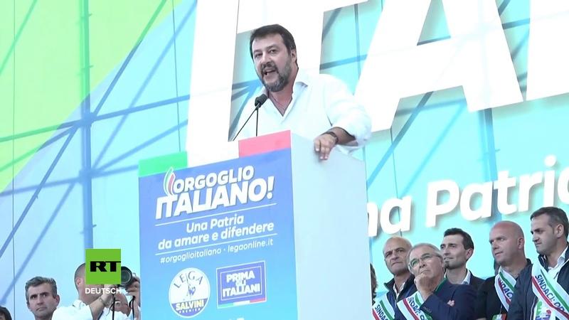 Wir schicken sie nach Hause – Matteo Salvini schwört sich auf ein Comeback ein