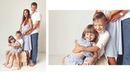 Ideas Family Photo Shoot with props in studio with natural light, Russian photographer