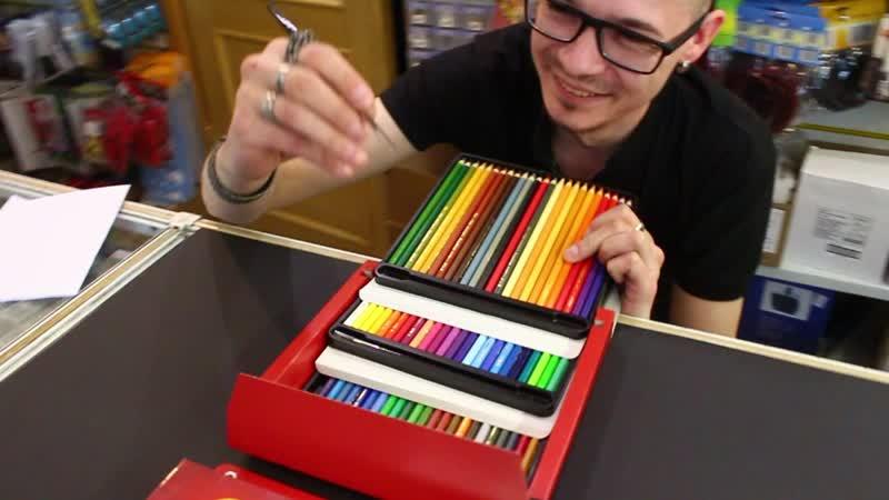 Димон обозревает акварельные карандаши Mondeluz 72 цв.