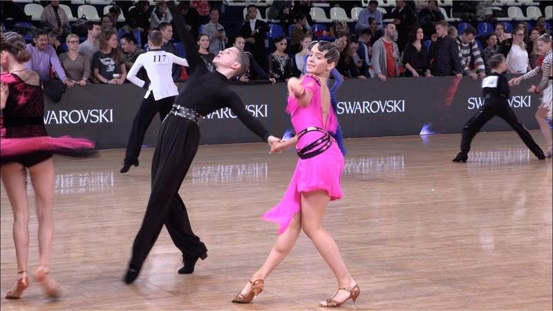 Iurii Chirkunov Ksenia Chumicheva RUS Cha Cha Cha ROC 2018 WDSF Open Junior I Latin
