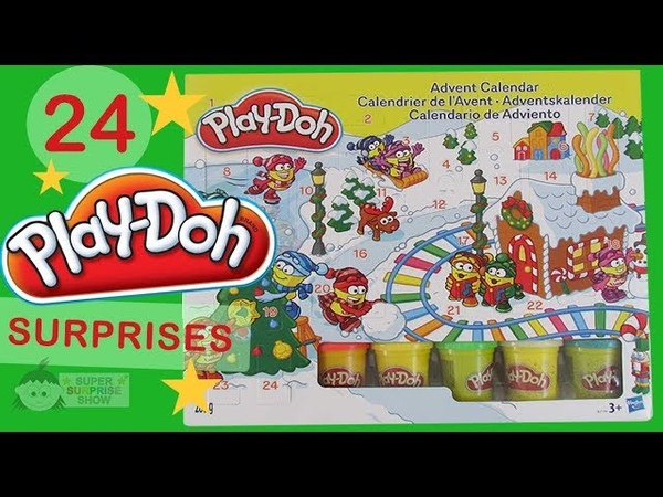 PLAY DOH Advent Calendar with 24 Christmas Toy Surprises