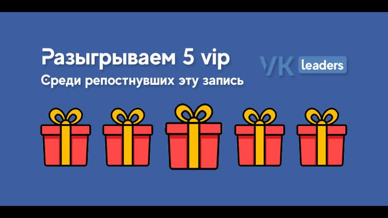 Разыгрываем 5 vip в vk-leaders.com 1