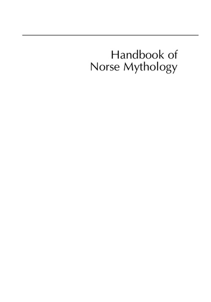 Handbook of Norse Mythology by John Lindow