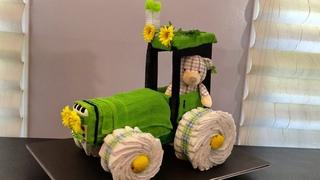 Tractor Diaper Cake / Baby Shower / TARTA DE PAÑALES