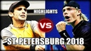Denis Shapovalov vs Adrian Menendez Maceiras ST PETERSBURG 2018 Highlights