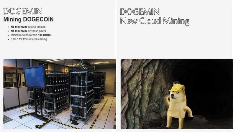 DogeMin Cloud mining 10KHs Free