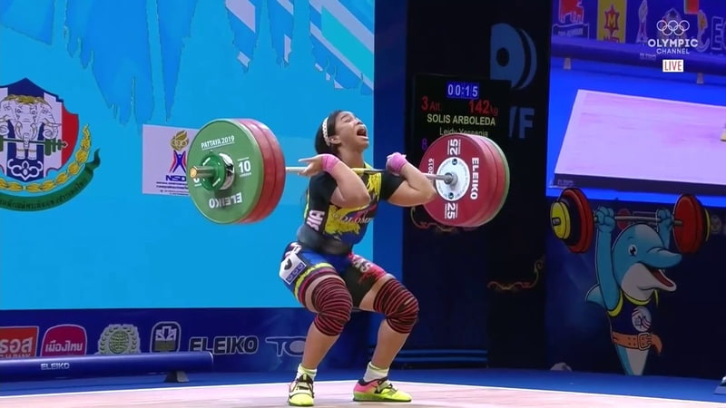 Leydi Solís 81 kg Clean Jerk 142 kg 2019 World Weightlifting Championships