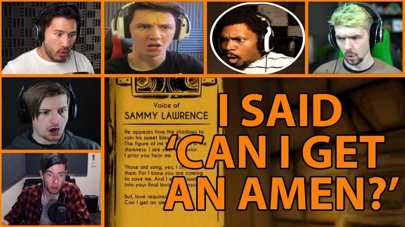 Let's Players Reaction To Sammy Saying 'Can I Get An Amen' BATIM Chapter 2