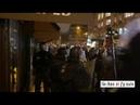 9janvier Les policiers obligés de reculer face au nombre de manifestants