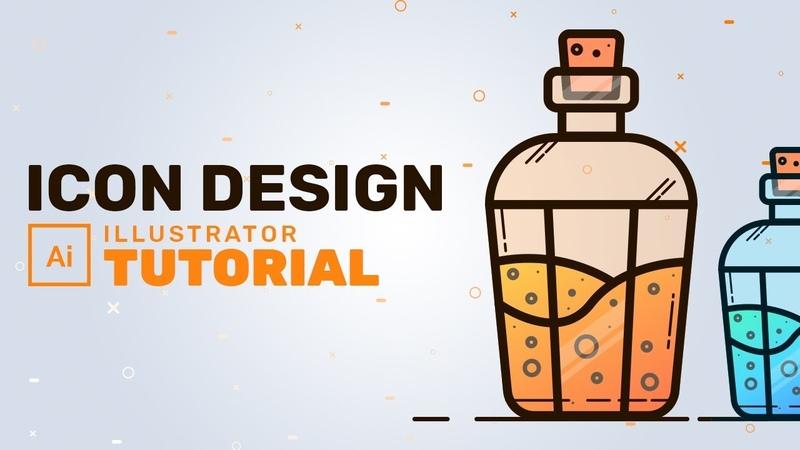 Flask Icon Design in Adobe Illustrator Adobe Illustrator Tutorial