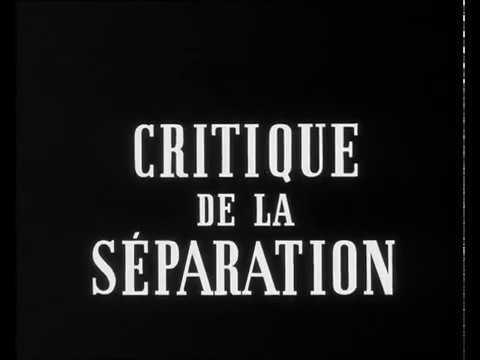 Критика Разделения Critique de la séparation русская озвучка