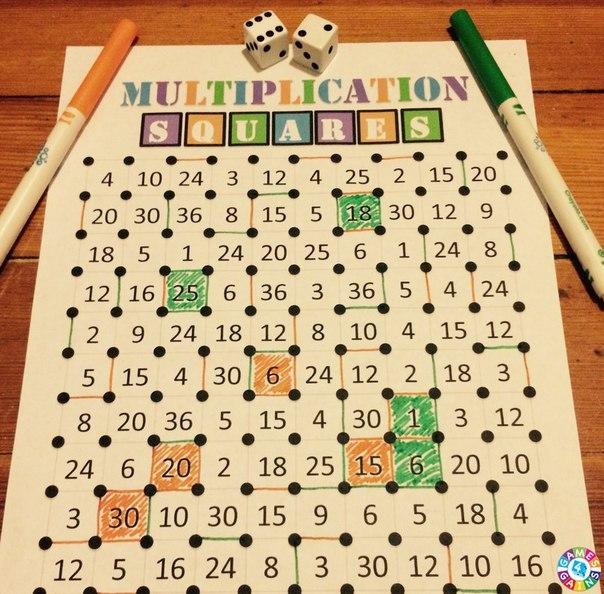 УВЛЕКАТЕЛЬНАЯ МАТЕМАТИЧЕСКАЯ ИГРА Увлекательная математическая игры для двоих, где потребуются навыки умножения, внимание и стратегическое мышление. Потребуются: - игровое поле (прикрепленный