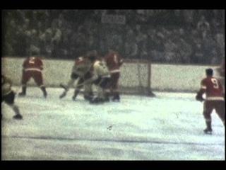 Gordie Howe vs. Maurice Richard Detroit Red Wings vs. Montreal Canadiens, 1960 color 8mm Film