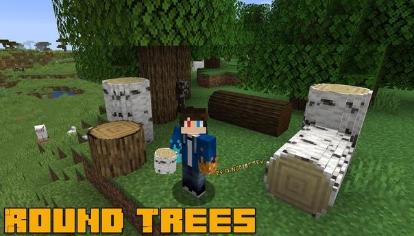 текстуры с круглым деревом для майнкрафт #8