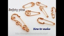 Simple safety pins from copper wire A little change you have got a new pattern 512