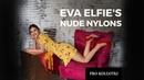 Eva Elfie posing in summer dress and the sheerest pantyhose 2019 10 2